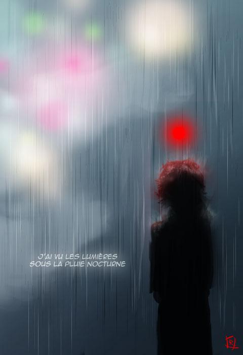 Les lumières sous la pluie